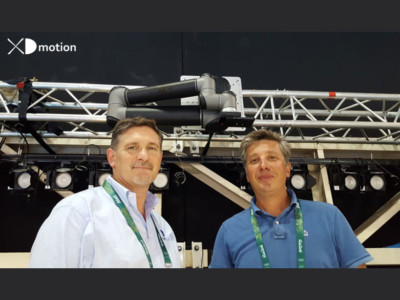 Fred Gaillard FTV & Benoit Dentan XD motion in front of the AR+ Robotics