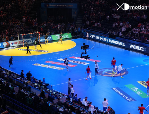 X fly 2D at World Handball Champ.