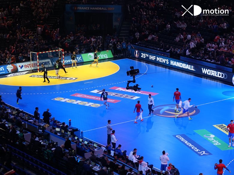 X fly 2d cablecam at World Handball Championship