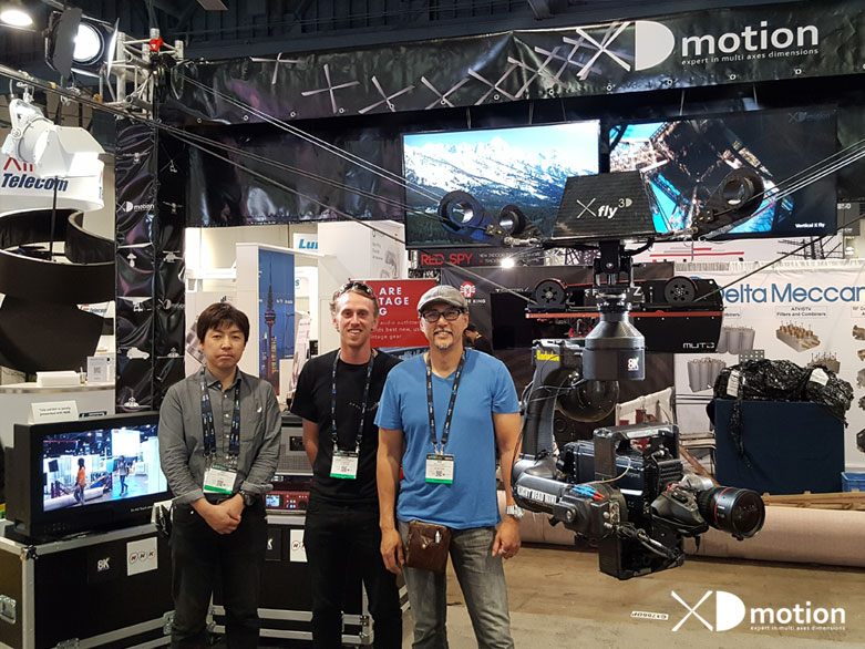 XD motion team at NAB 2017 with Xfly 3D 8K