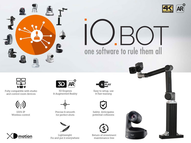 IO.BOT control unlimited ptzs and robots at the same time