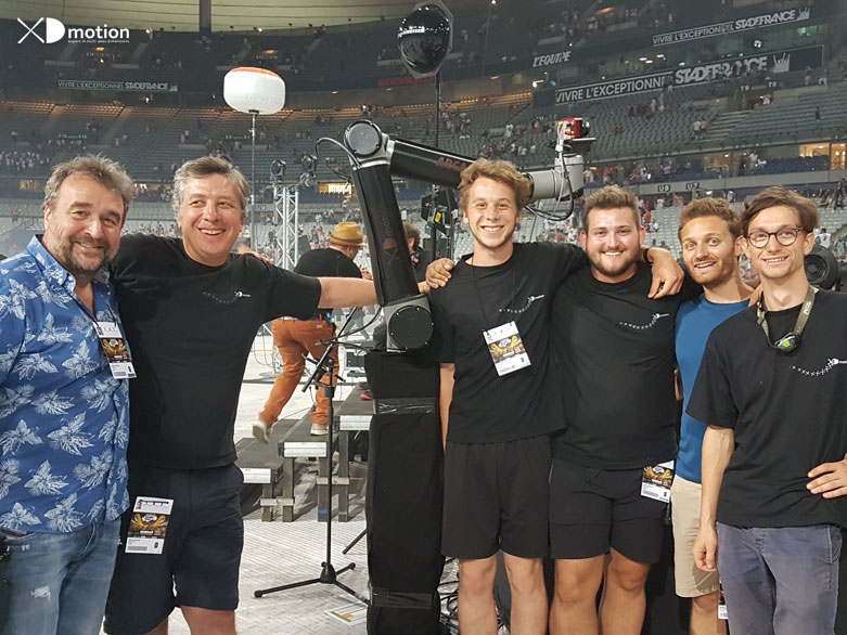 XD motion team at Rockin 1000 with Arcam / IObot