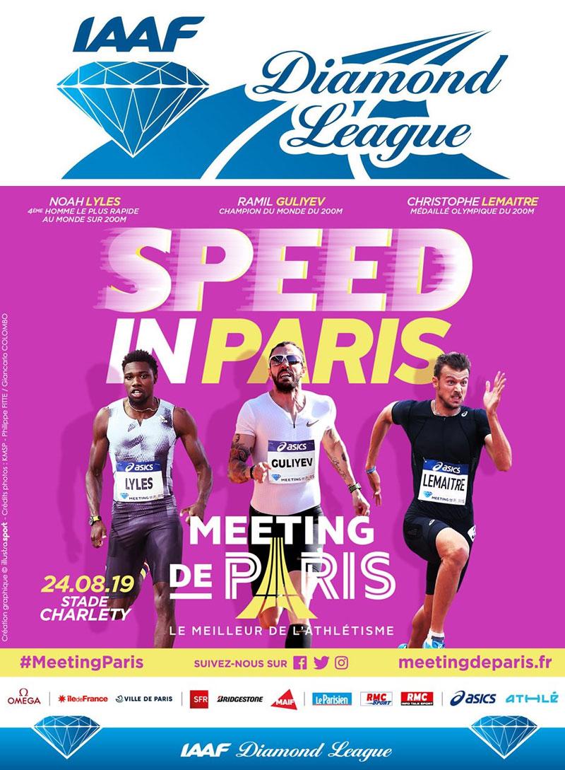 IAAF Diamond League Paris 24-08-2019