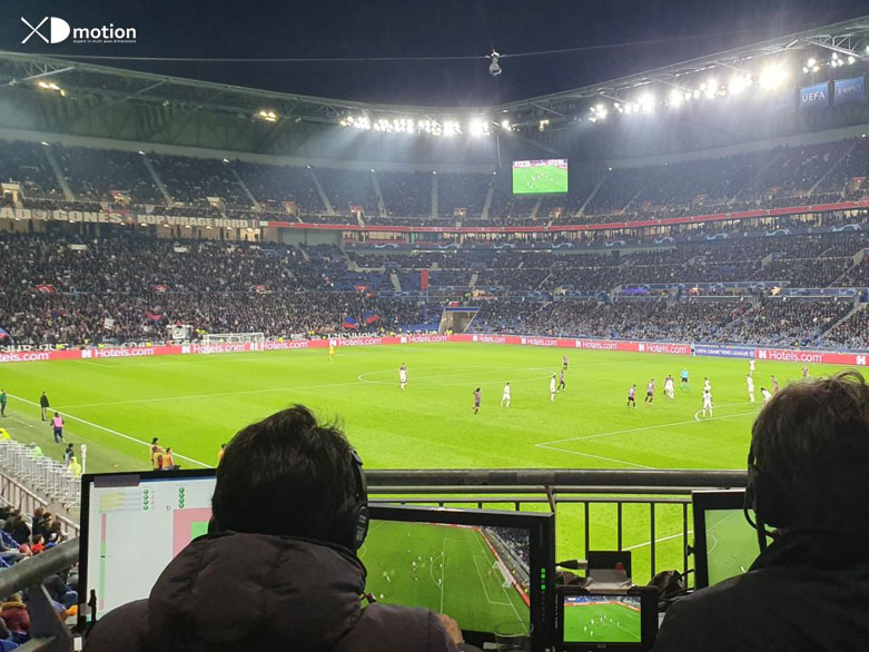X fly 3D cablecam UEFA Championship League Lyon 2019